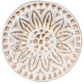 White & Gold Flower Round Metal Knob